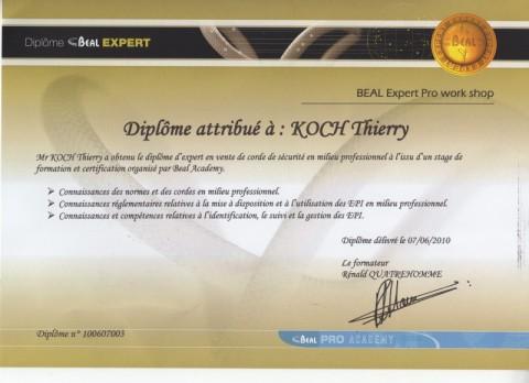 matériel EPI BEAL, travail en hauteur, évaluation des risques