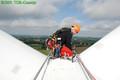Vérification sur pales d'éoliennes